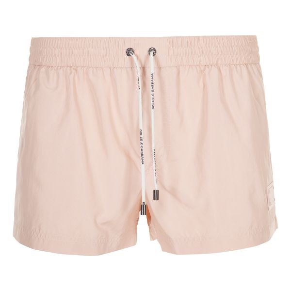 Dolce & Gabbana Plaque Logo Swim Shorts