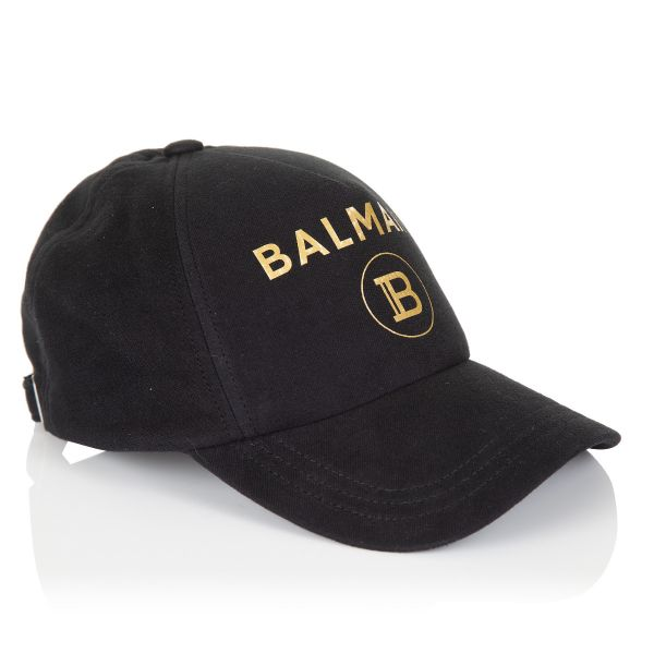 Balmain Paris Logo Cotton Cap
