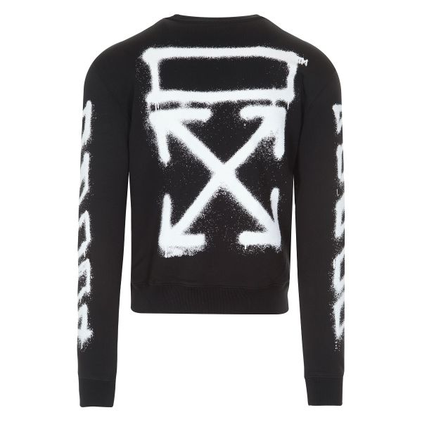 OFF WHITE SPRAY ARROWS SWEATSHIRT